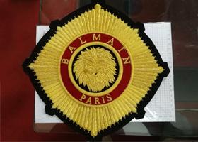 专业高端大牌印度丝徽章定制服装辅料手工刺绣布贴定做案列