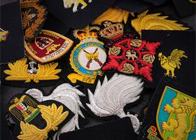 印度丝刺绣徽章定制肩章臂章飞行员机长列车长保安军迷臂章