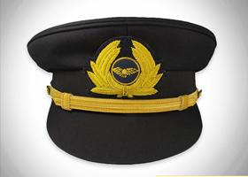 印度丝手工刺绣列车长机长大盖帽帽徽金属丝材质徽章定制加工