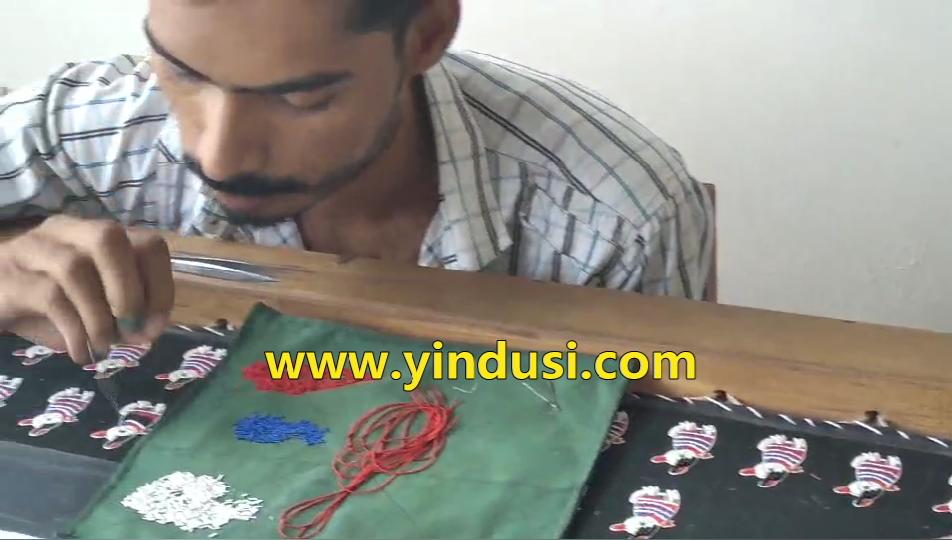 印度丝手工刺绣胸针定制名族风民谣吉他时尚胸针做工超复杂