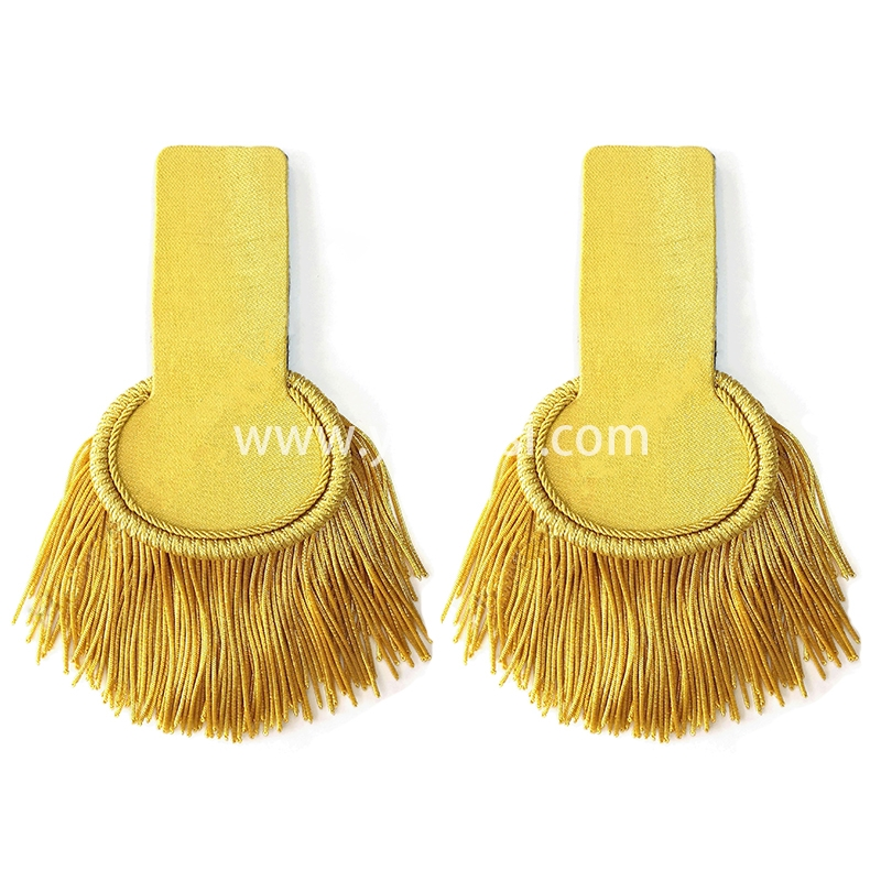 手工刺绣金色肩章印度丝徽章胸针高档配饰胸花工厂定制订做