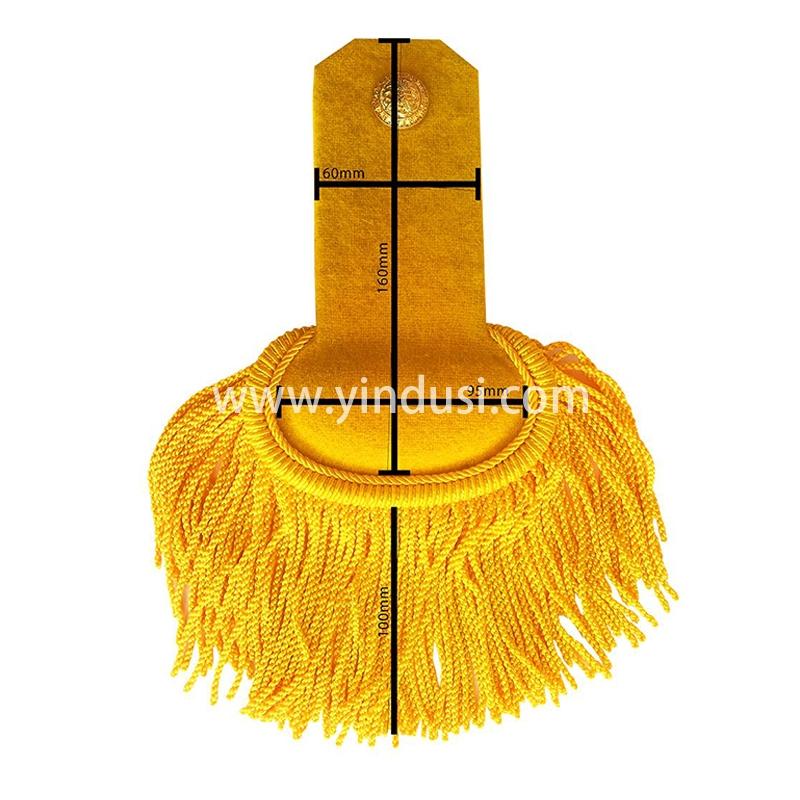 金色肩章手工刺绣印度丝徽章胸针高档配饰胸花工厂定制订做