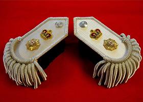 专业定制高端军服配饰印度丝流苏金属丝肩章定做高端军用品配件