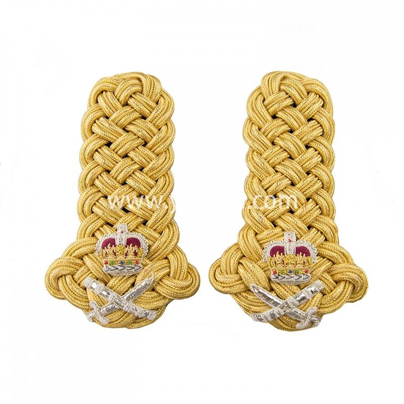 金色皇冠肩章手工刺绣印度丝徽章胸针高档配饰胸花工厂定制订做