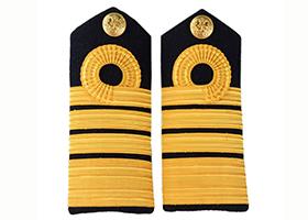 金属丝织带肩章军警制服肩章套式拆卸肩章金丝线条纹肩章来图定制