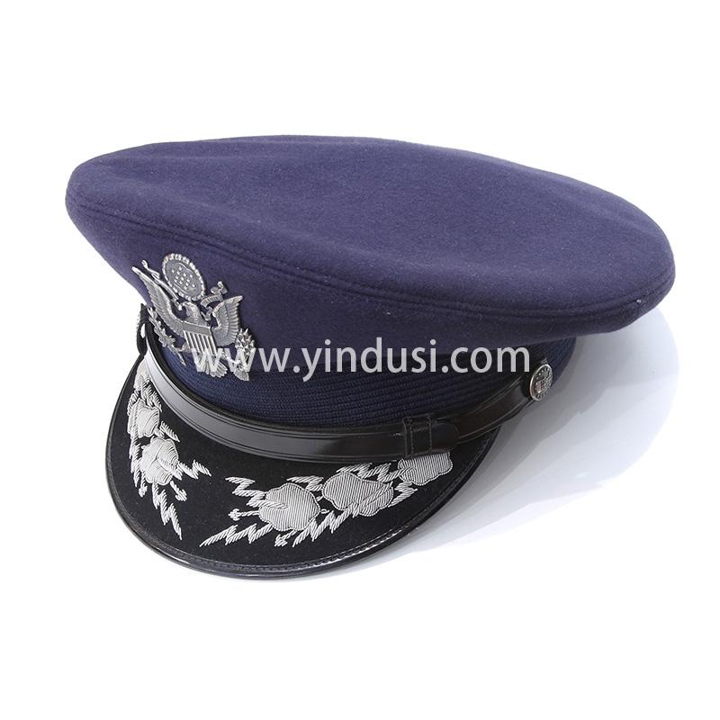 手工刺绣银色帽徽印度丝徽章胸针高档配饰胸花工厂定制订做