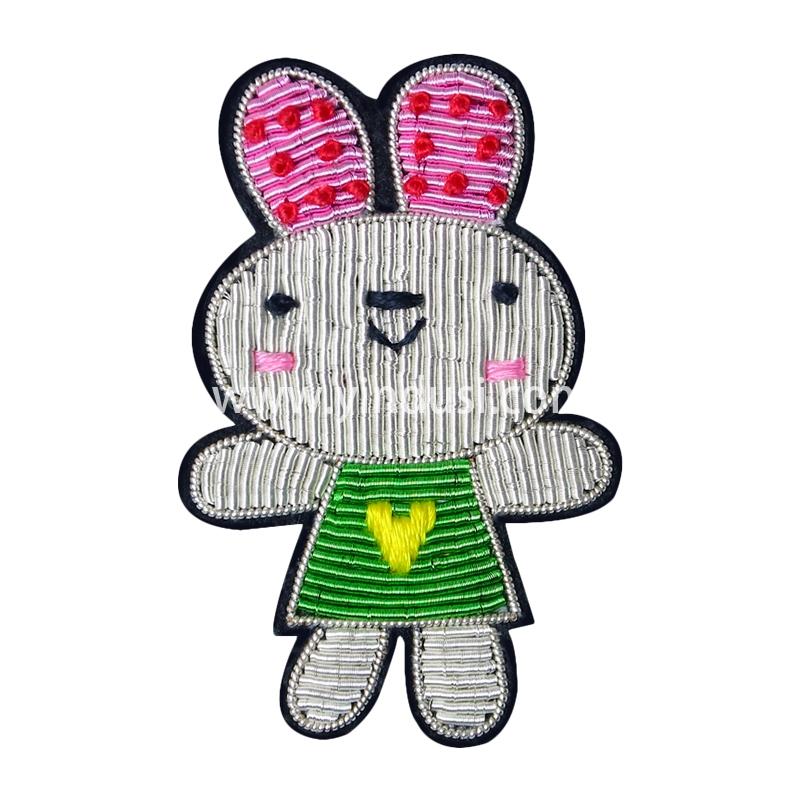手工刺绣胸花印度丝徽章卡通芭蕾兔可爱胸针女百搭高档配饰