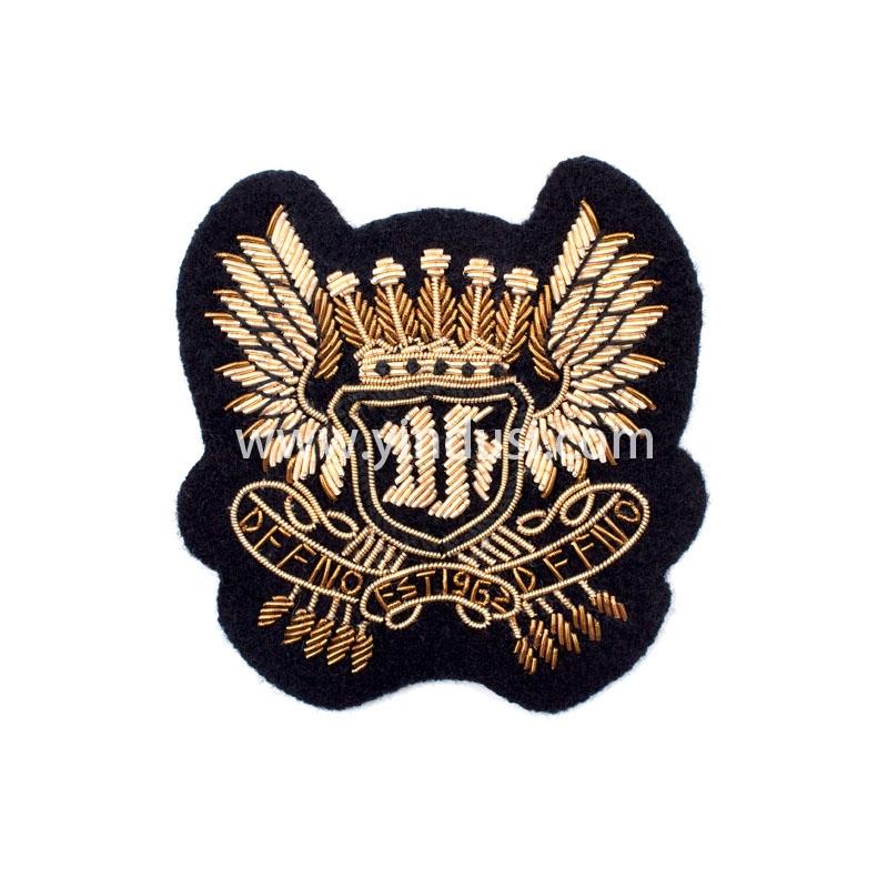 展翅DF手工刺绣印度丝徽章胸针高档配饰胸花工厂定制订做