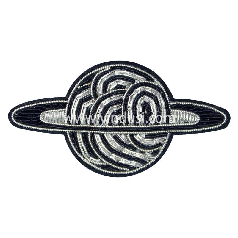手工刺绣胸花印度丝徽章卡通太空恒星球胸针男女高档配饰潮