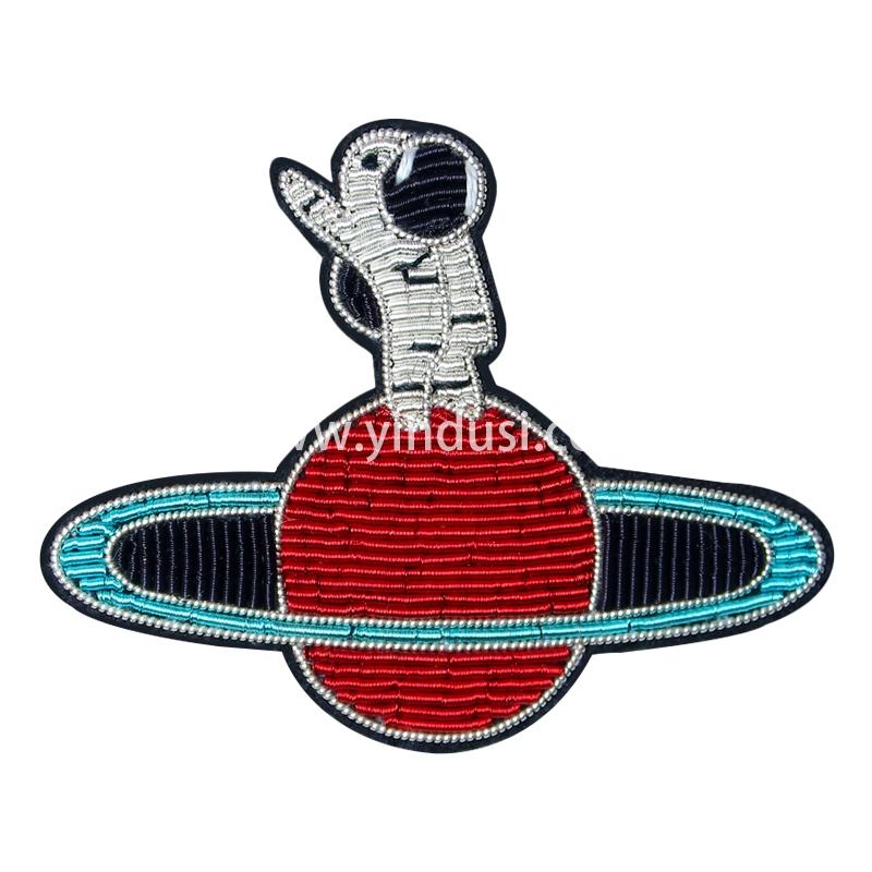 手工刺绣胸花印度丝徽章宇宙探索者太空百搭胸针男女配饰潮