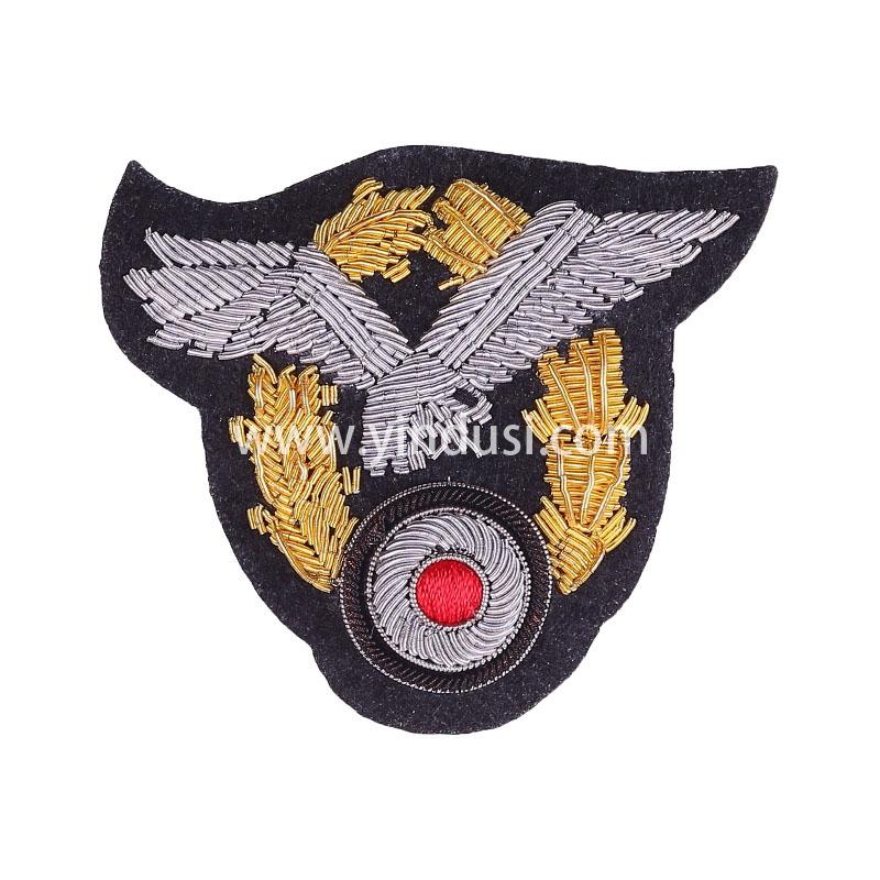 银鹰麦穗手工刺绣印度丝徽章胸针高档配饰胸花工厂定制订做
