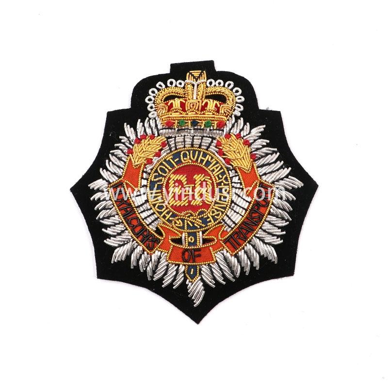 金冠八角章手工刺绣印度丝徽章胸针高档配饰胸花工厂定制订做