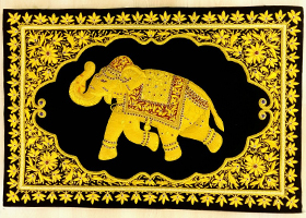 迪拜金丝宝石挂毯定制印度巴基斯坦金丝挂毯纯手工刺绣定做