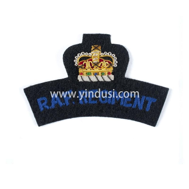 皇冠帽徽手工刺绣印度丝徽章胸针高档配饰胸花工厂定制订做
