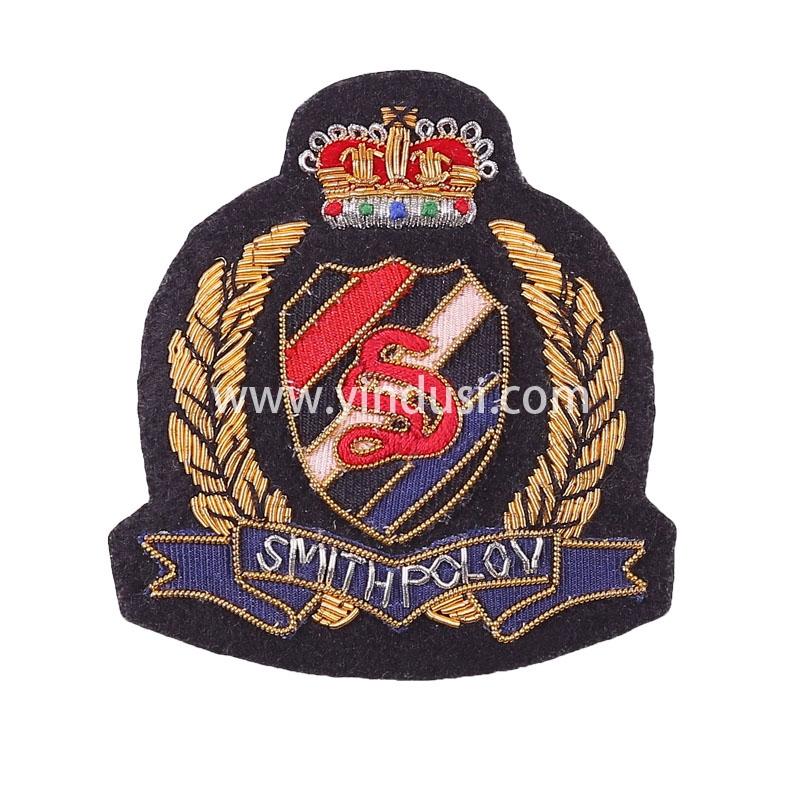 皇冠RC徽章手工刺绣印度丝徽章胸针高档配饰胸花工厂定制订做