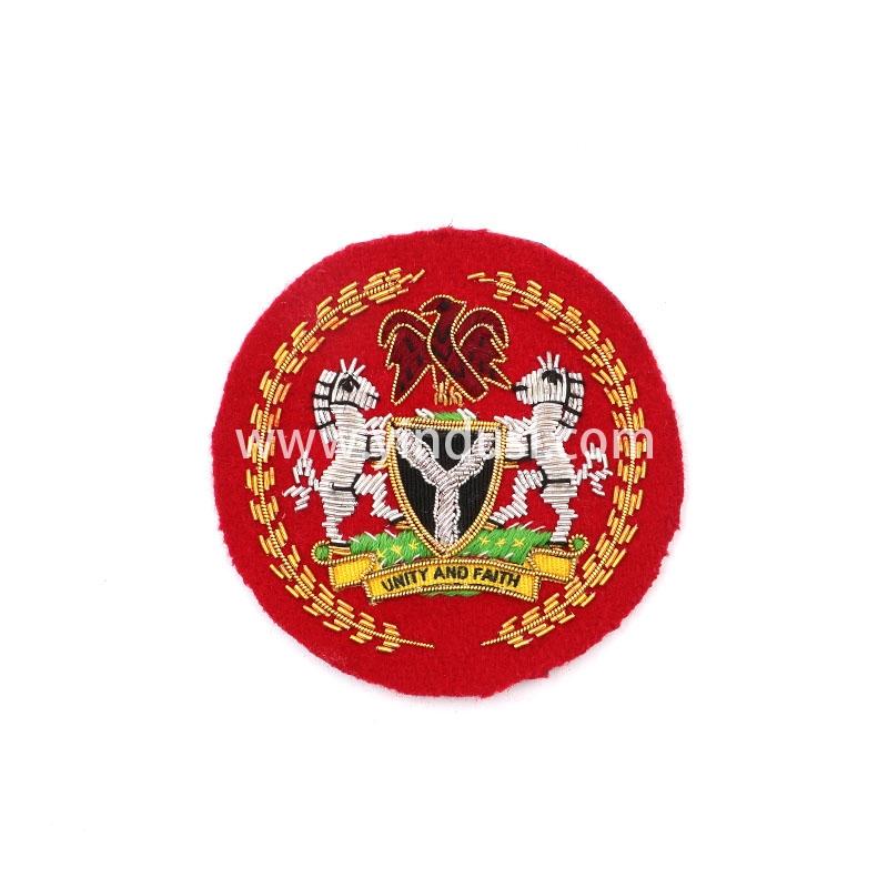 尼日利亚手工刺绣印度丝徽章胸针高档配饰胸花工厂定制订做