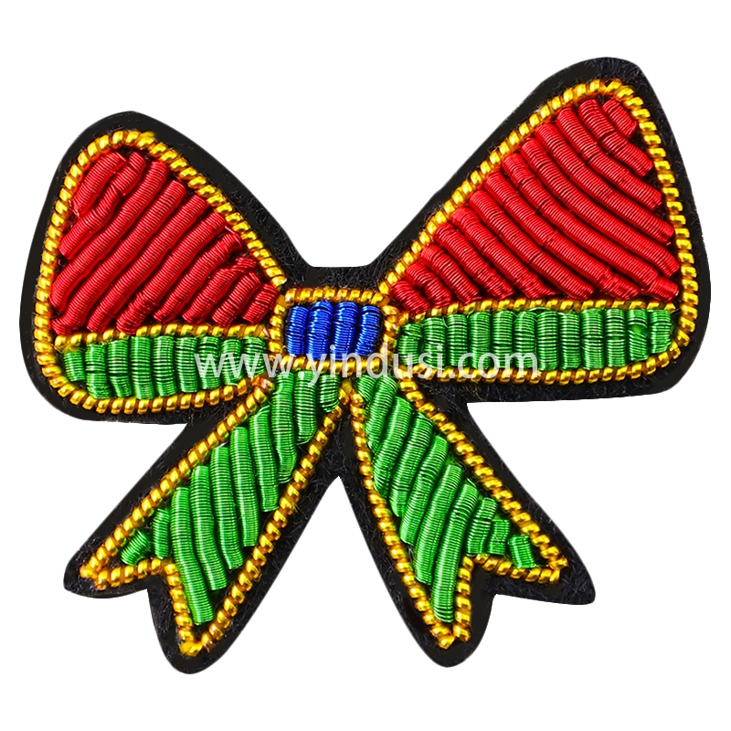 法国设计手工刺绣胸针精致高档西装配饰小领结胸花创意印度丝徽章