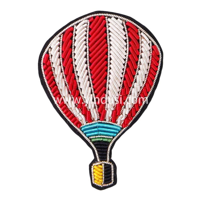 法国设计印度丝徽章趣味创意热气球西装包包配饰别针手工刺绣胸针
