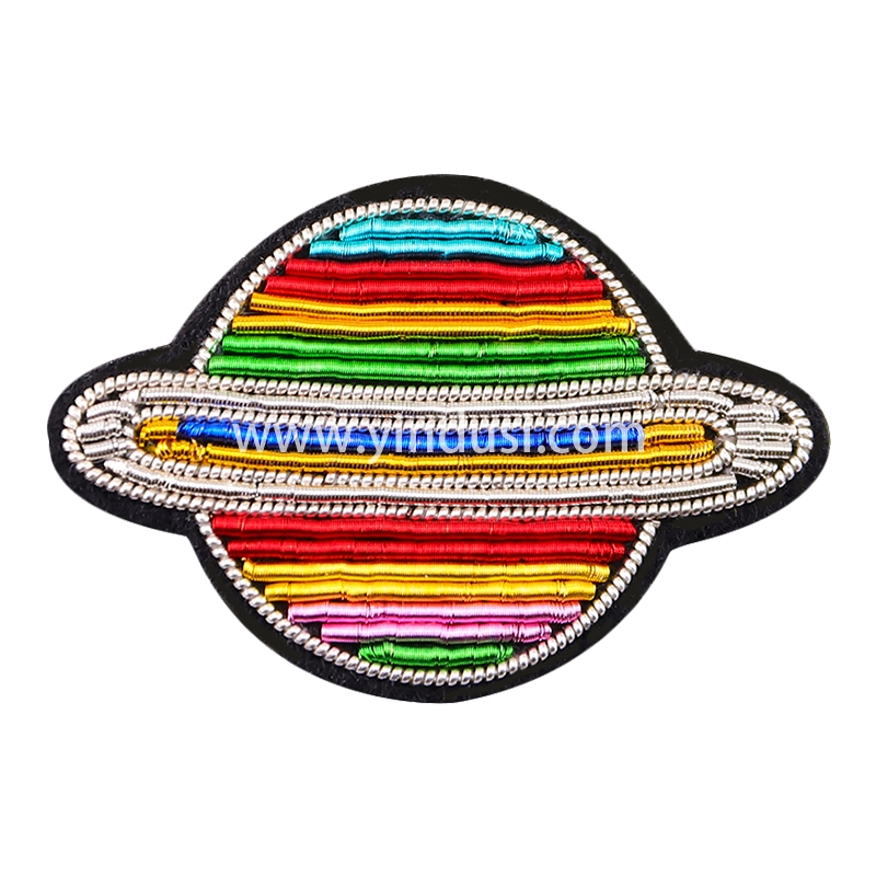 法国设计刺绣胸针男女衣服包包配饰印度丝手工彩色星球趣味徽章