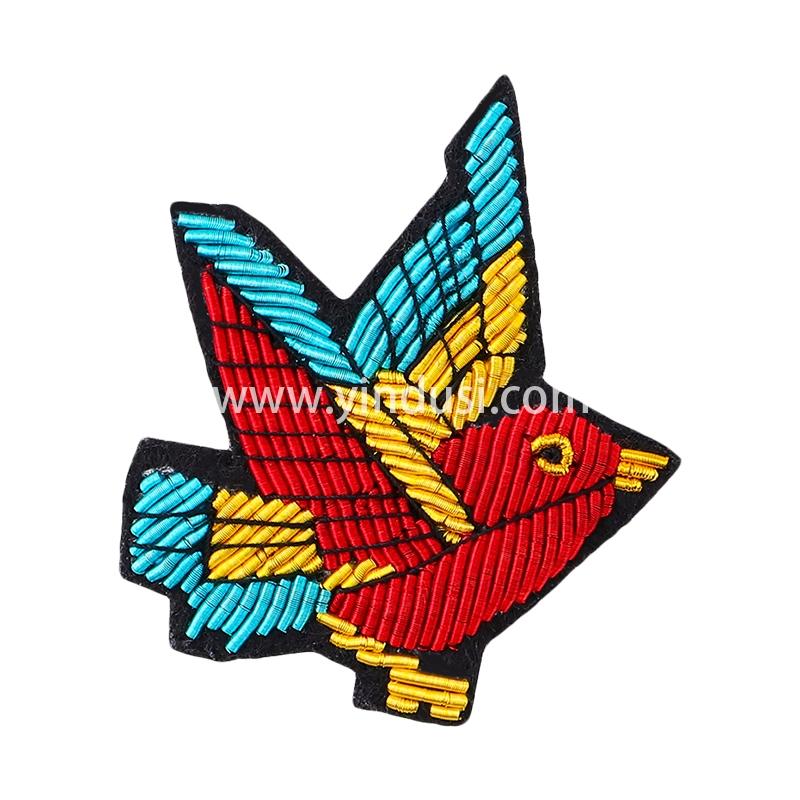 印度丝手工刺绣胸针别针男女衣服包包配饰品创意趣味简约翠鸟徽章