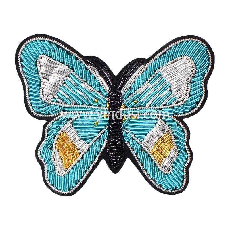 印度丝手工刺绣胸针高档女创意蝴蝶设计徽章毛衣别针固定衣服配饰