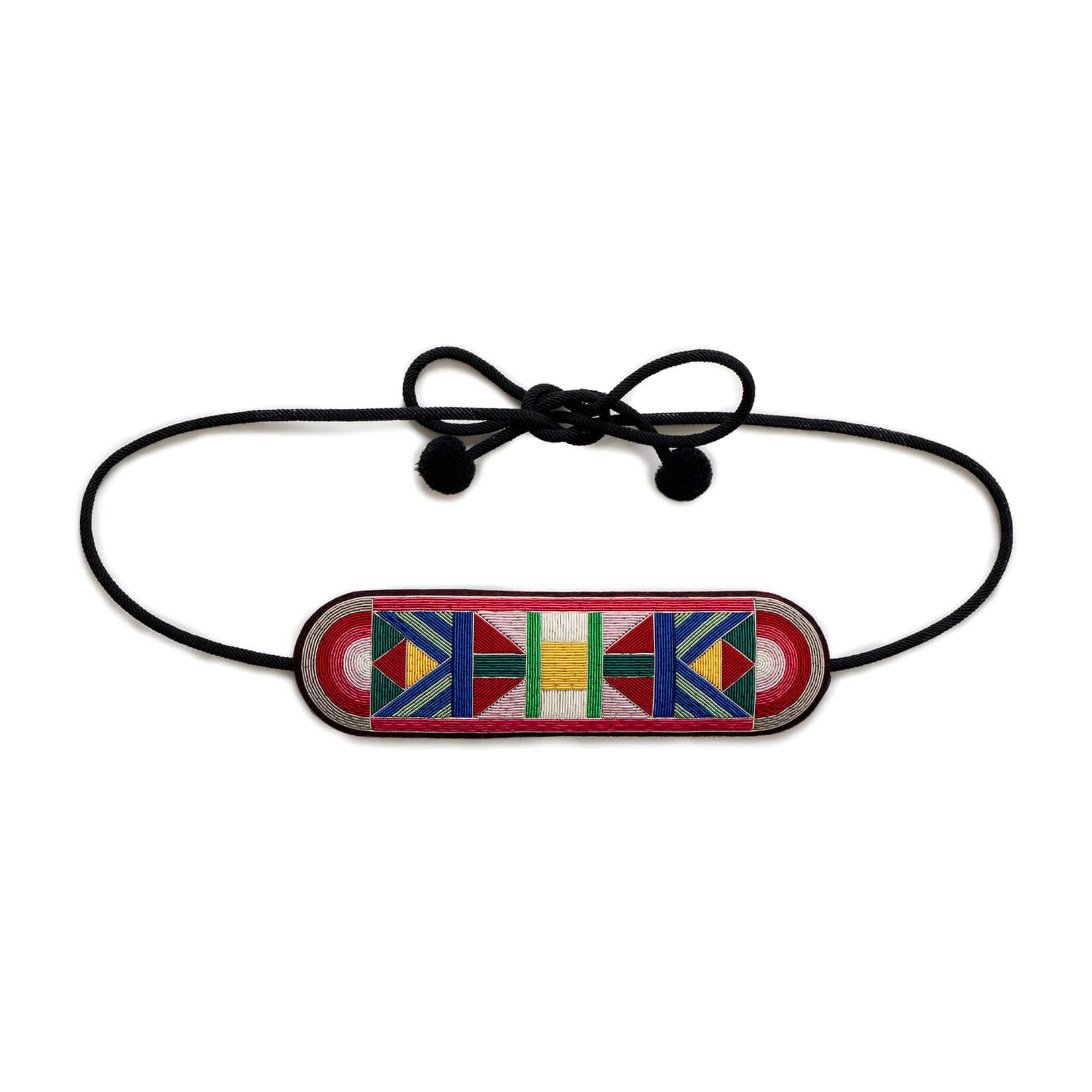 印度丝徽章手工刺绣艺术装饰腰带,G&L设计的皮带将为您最清醒的服装和其他黑色小礼服配饰。
