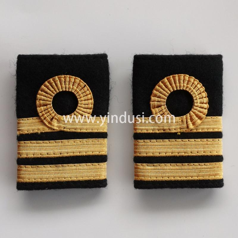 印度丝金属织带刺绣肩章南方航空东方航空机长肩章定做加工印度丝徽章定制工厂