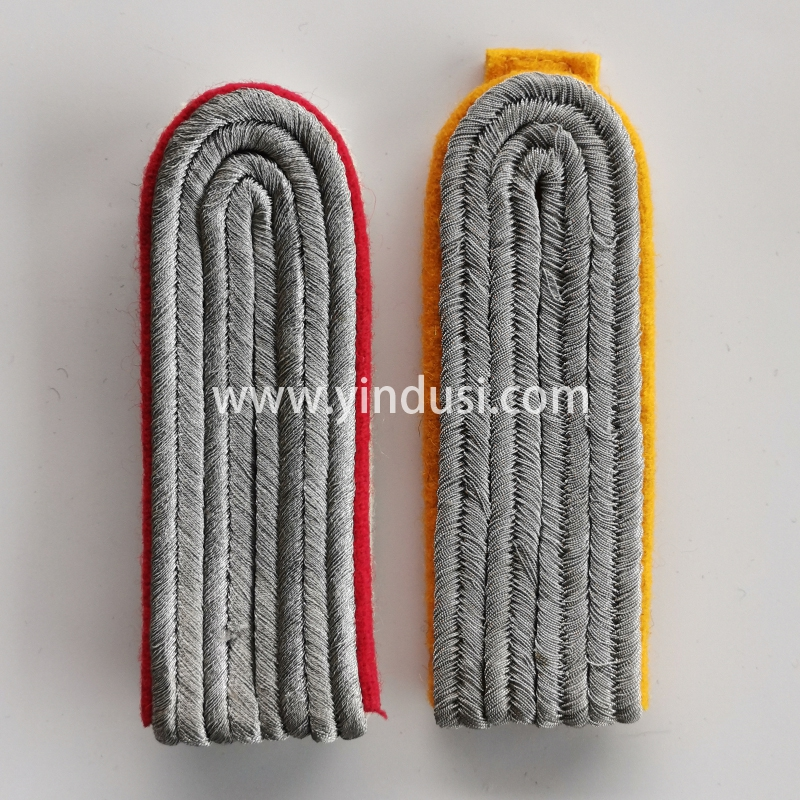 印度丝手工刺绣金属丝肩章二战德国苏联军官肩章定做印度丝徽章工厂
