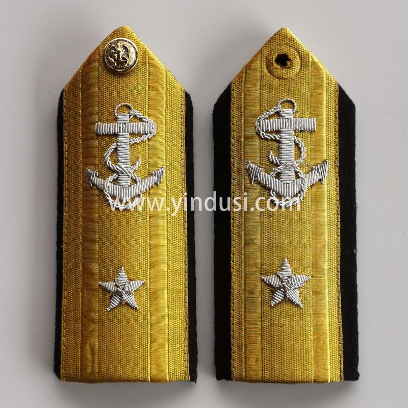 印度丝手工刺绣船锚小五星大帅肩章二战德国苏联影视道具肩章定做加工