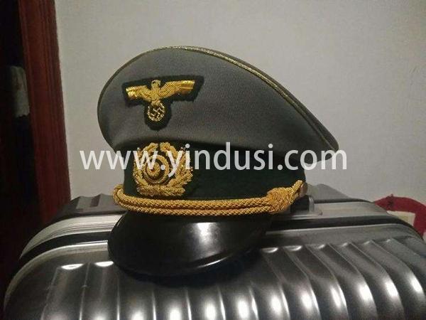二战德军军帽系列,印度丝徽章工厂承接二战德国军帽定制加工。