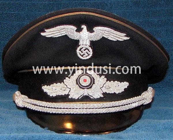 二战德国德军军帽系列,定制各种帽徽,帽檐,帽封带,帽腰案例。
