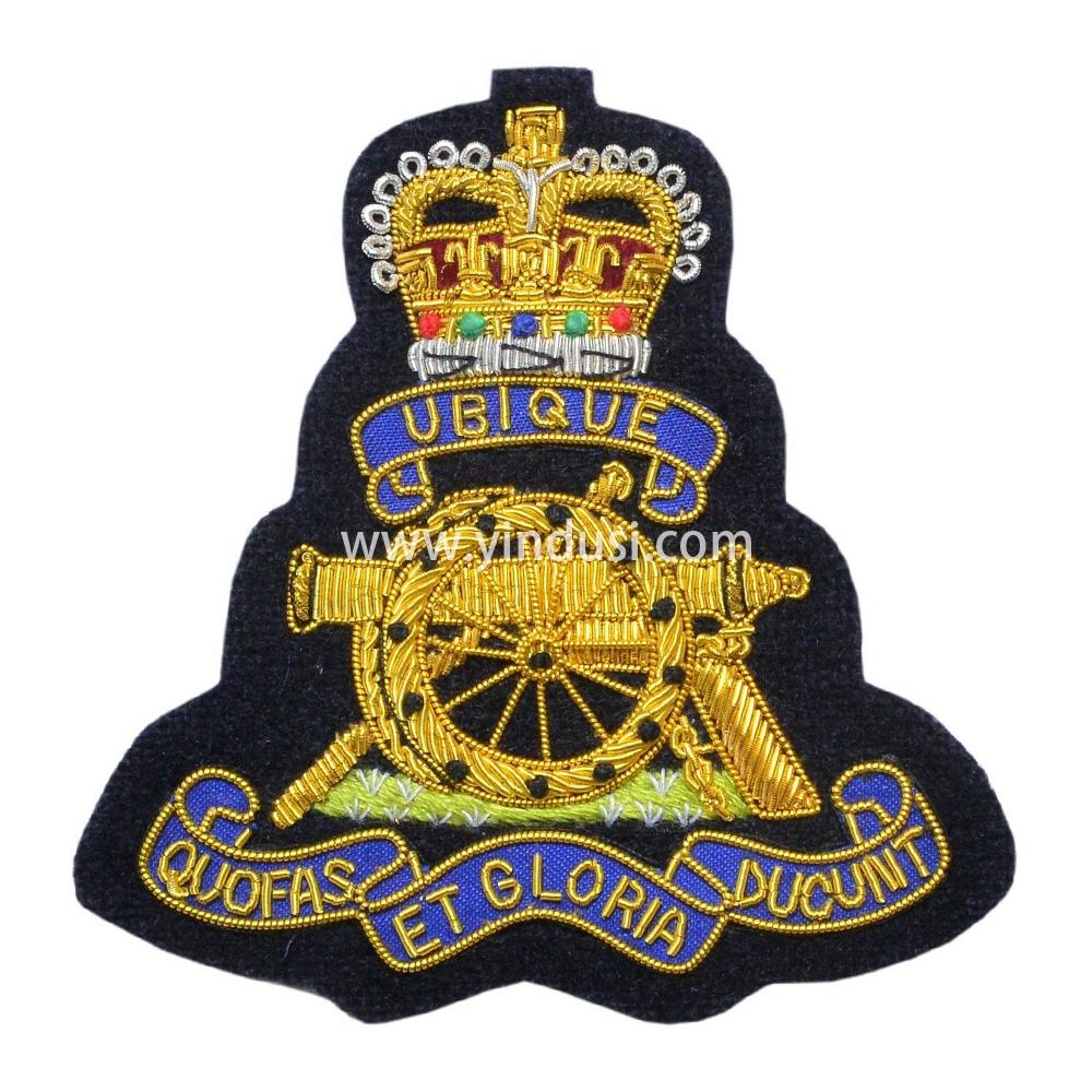 印度丝徽章定制工厂金属丝手工刺绣定做二战德国苏联军帽帽徽