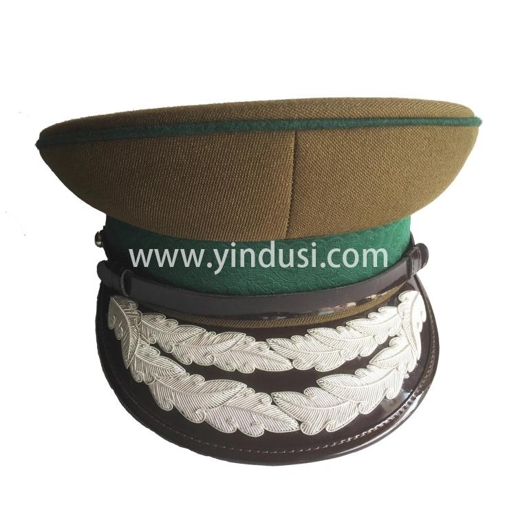 印度丝手工刺绣金属丝军品二战德国军帽帽徽帽檐影视道具定制加工