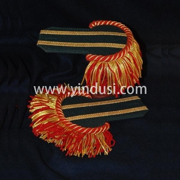 印度丝手工制作金属丝大流苏肩章法国刺绣肩章肩板陆军海军空军或仪式的制造商