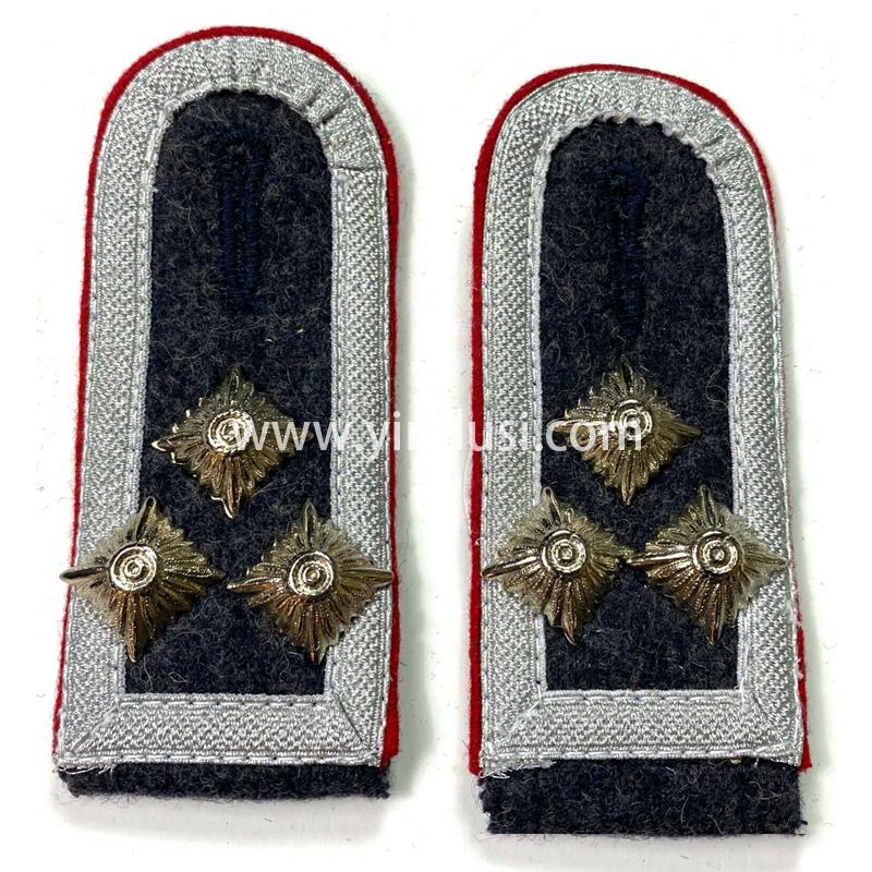 印度丝徽章工厂定制手工编制金属丝织带肩章二战德国高级将领肩章定做