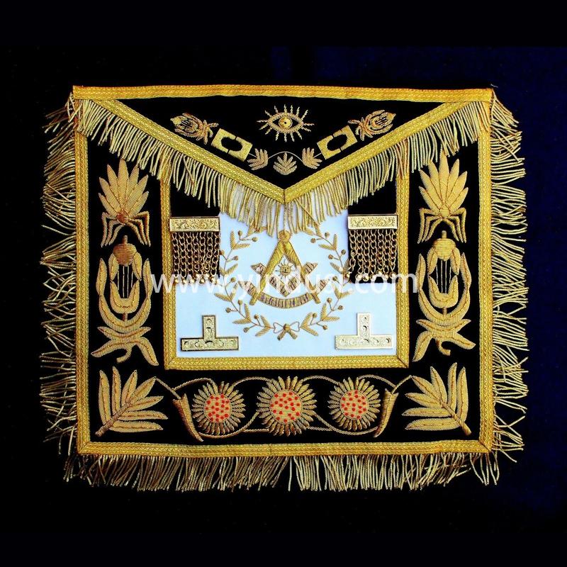 印度丝手工刺绣美国共济会宫廷刺绣大酒店高级管理员围裙英国共济会宫廷围裙