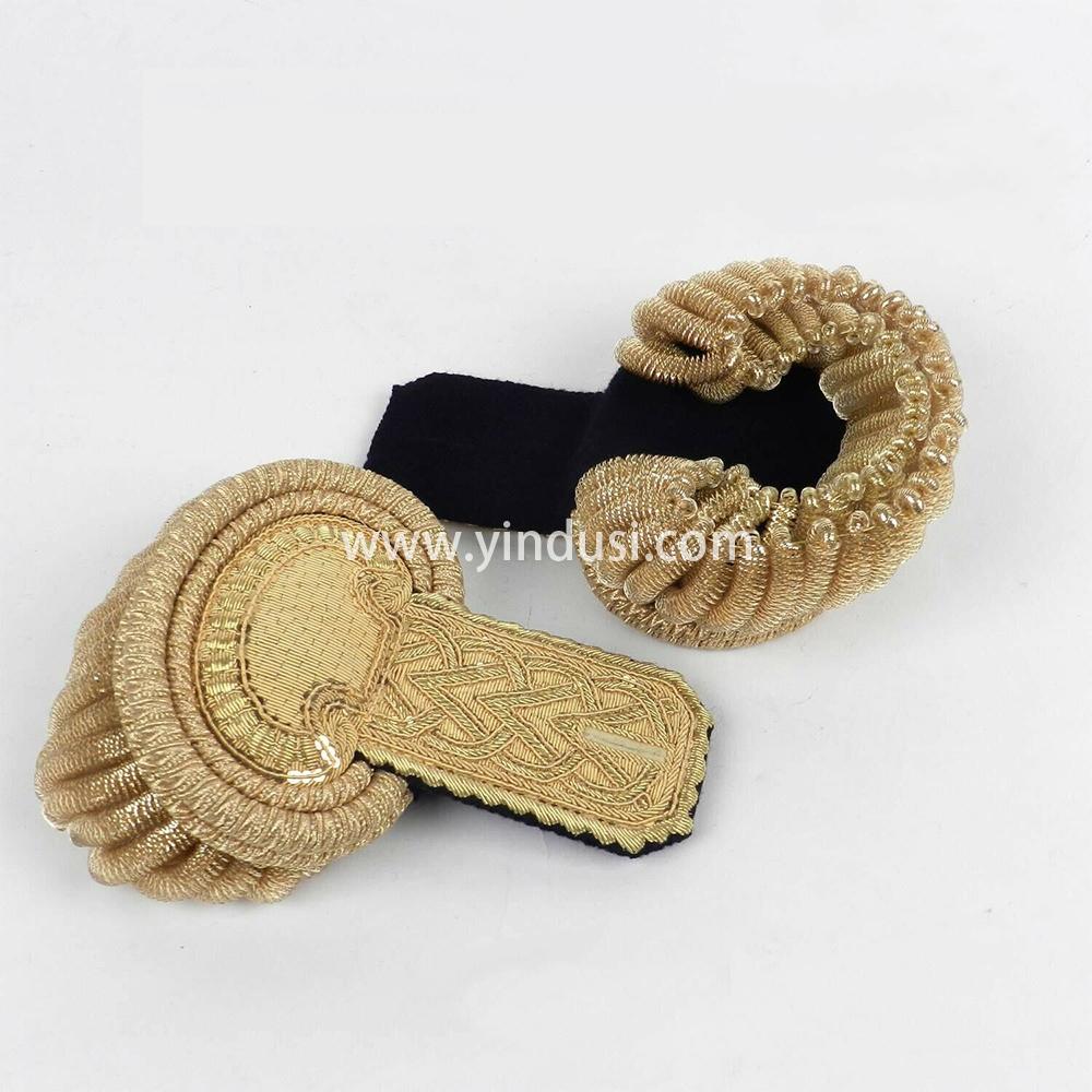 印度丝手工制作金属丝大流苏肩章二战德国元帅礼服肩章定做