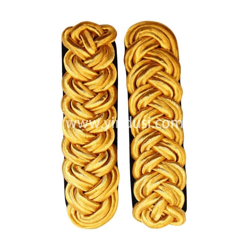 印度丝手工编制金属丝麻花肩章定制二战德国苏联高级将领肩章定做