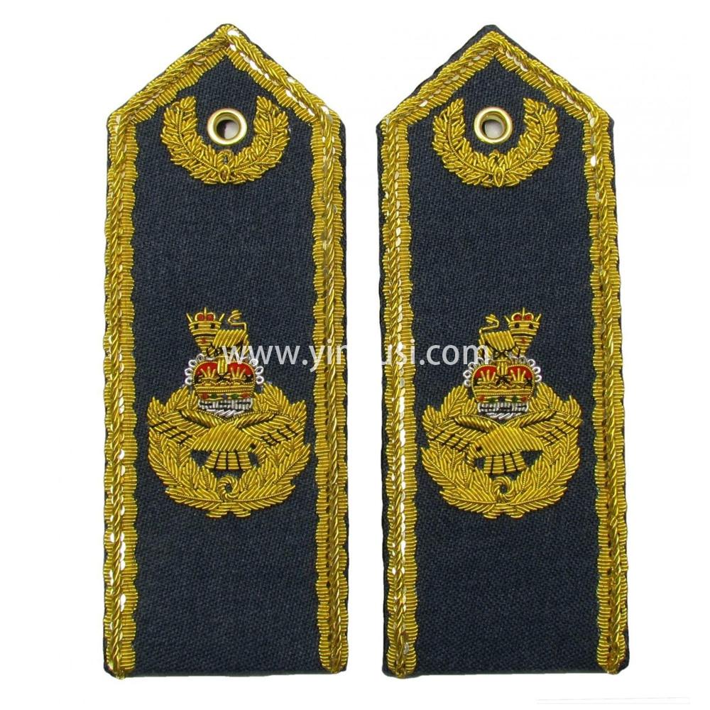 印度丝手工刺绣金属丝高级将军礼服肩章定制二战德国苏联俄国肩章定做