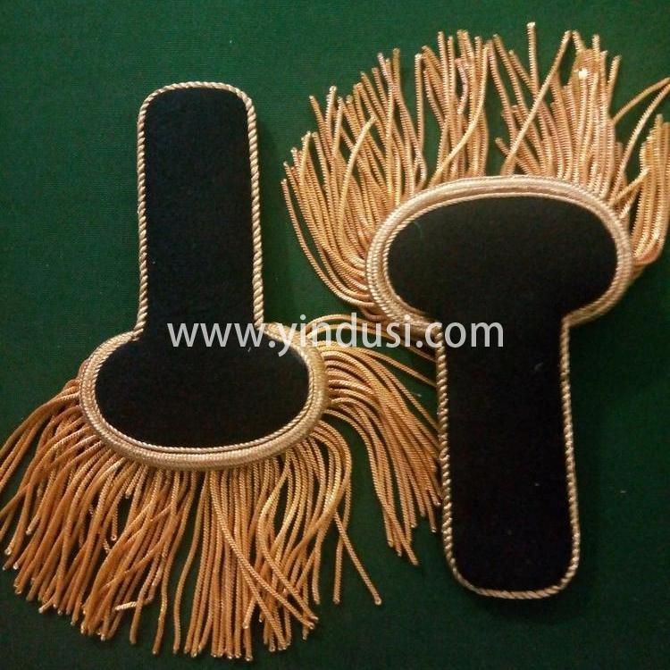 金属丝手工制作印度丝大流苏肩章二战德国英国法国高级军官礼服肩章定做