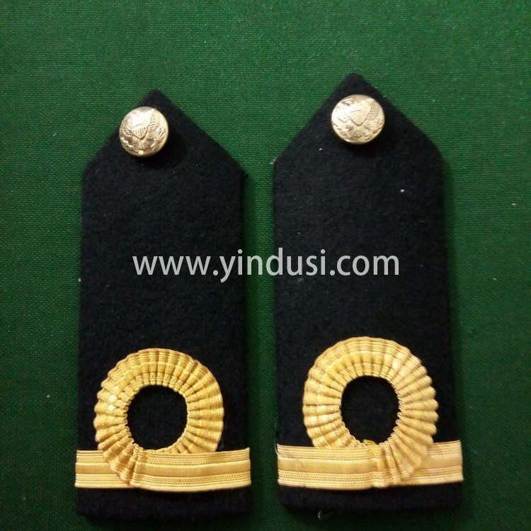 印度丝徽章工厂定制肩章海军肩章皇家海军副中尉军衔肩章定做