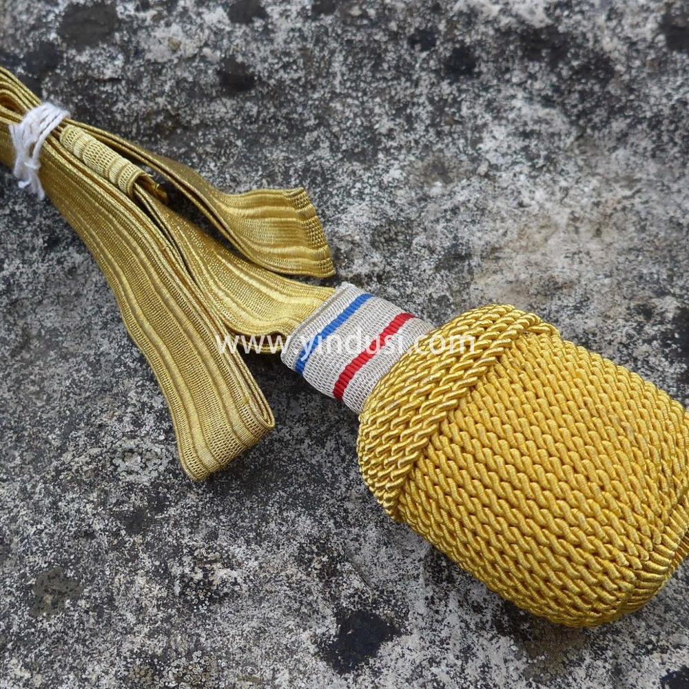 印度丝剑结工厂定制金属丝手工制作二战德国俄罗斯英国流苏头剑结定做