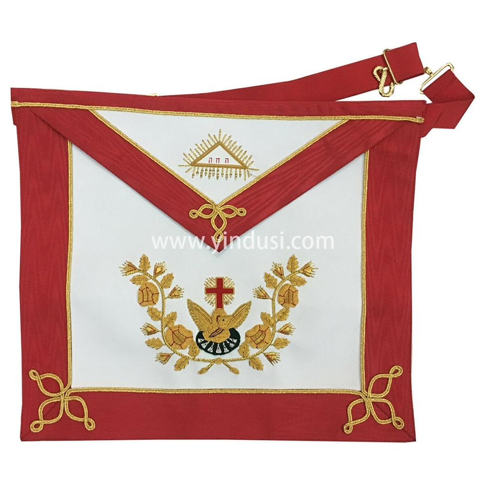 印度丝手工刺绣英国共济会宫廷刺绣大酒店高级管理员围裙法国共济会宫廷围裙