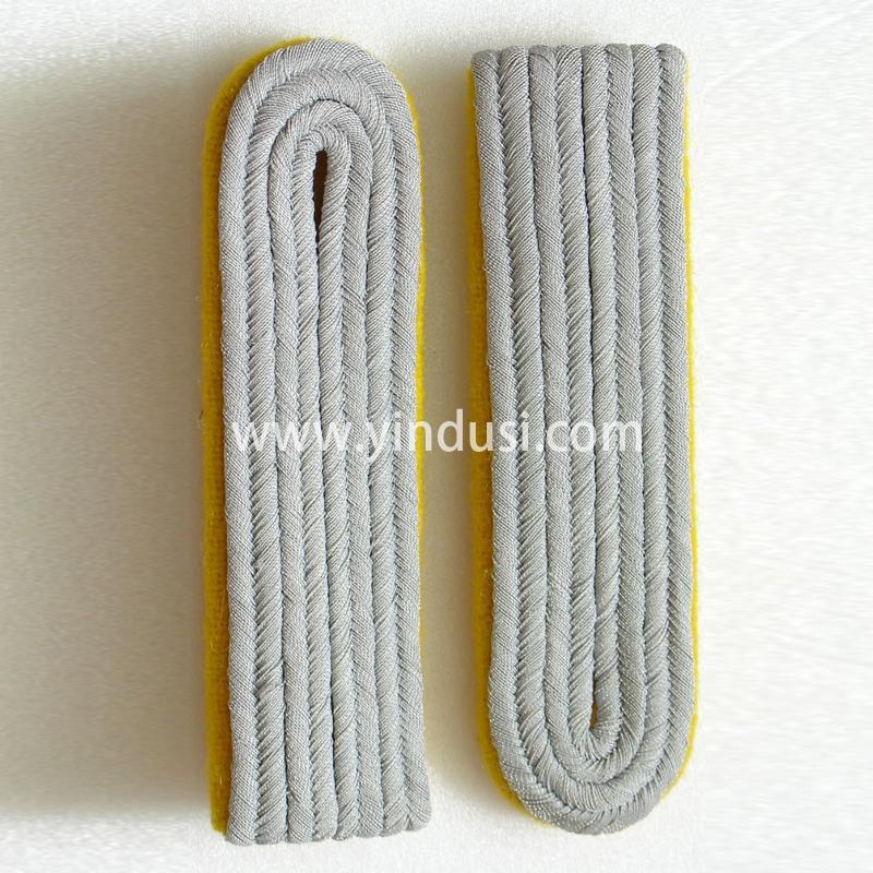 印度丝军品工厂手工编织金属丝肩章定制二战德国将军礼服肩章定做