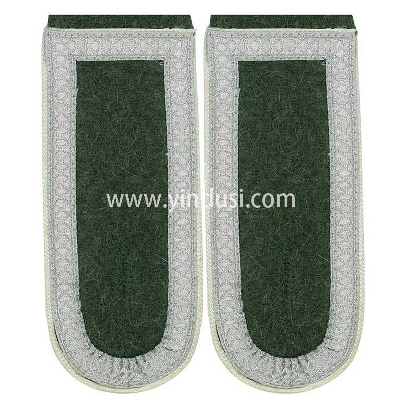 印度丝军品工厂手工刺绣金属丝高级军官肩章定制二战德国礼服肩章定做