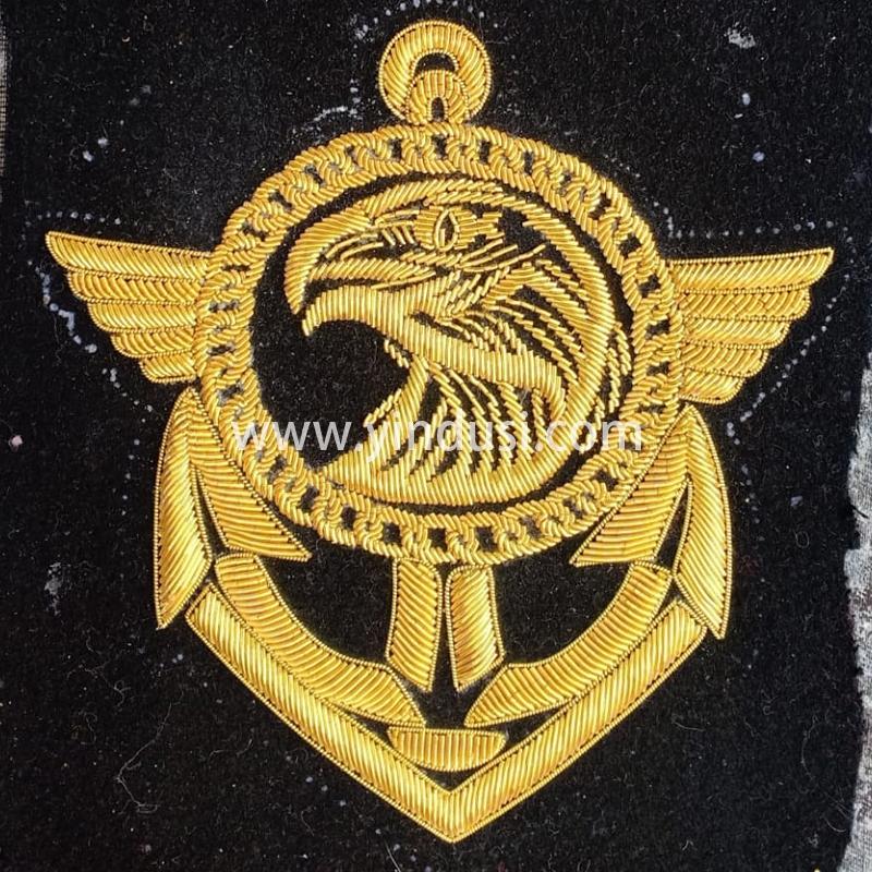 印度丝徽章工厂手工刺绣高级服装布贴定做大牌时装军品徽章定制