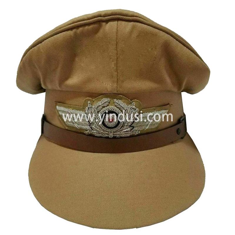 印度丝军品工厂手工刺绣金属丝帽徽定制二战德国礼服军帽定做