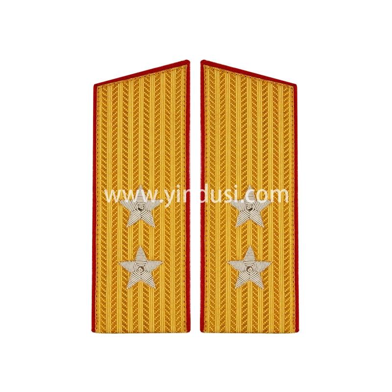 印度丝织带手工制作五五肩章刺绣55肩章印度丝肩章领章