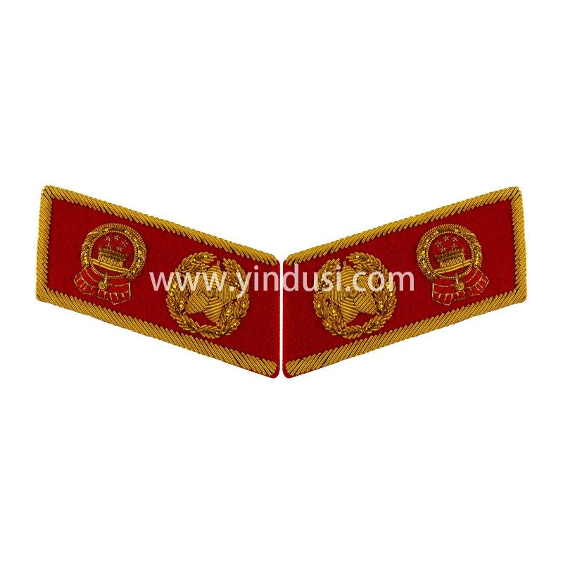 印度丝手工刺绣高级将领领章金属丝制造大元帅肩章领章定制