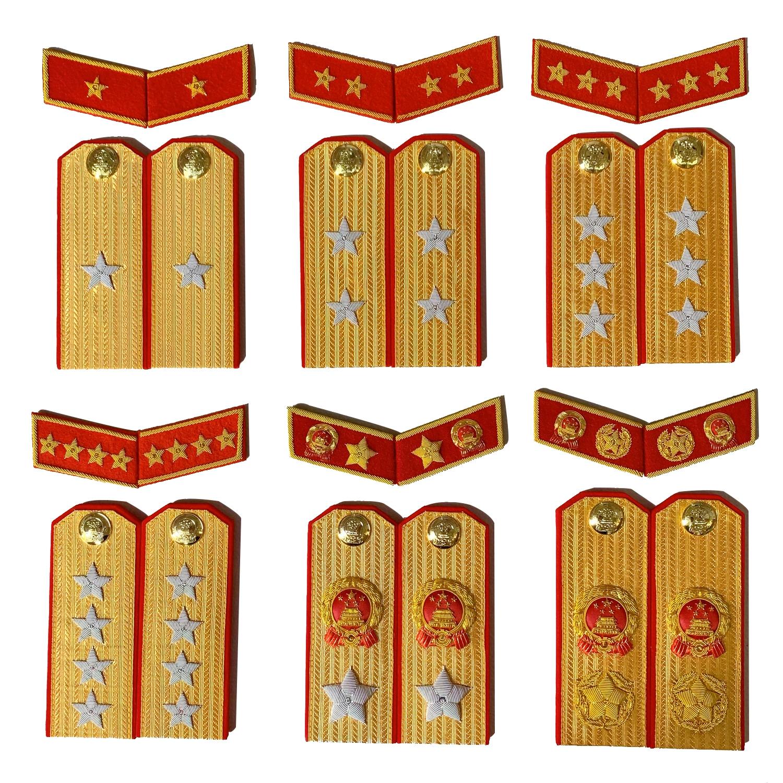 苏联收藏金销绣满底金正红边55式常服影视道具五星徽章松枝纪念章